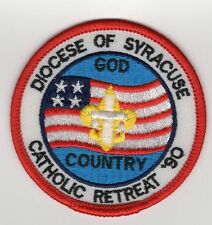 Camp Patch Diocese of Syracuse Catholic Retreat 1990 God and Country 700450