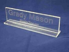 Personalized Acrylic Glass NAME PLATE BAR Desk