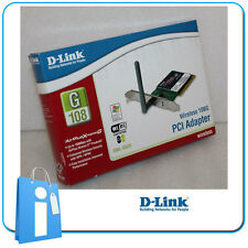 Tarjeta Red PCI Wifi Wireless 108Mb D-LINK DWL-G520 + low profile perfil bajo