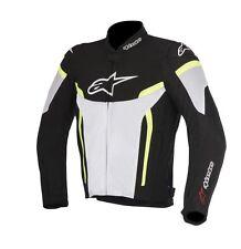 Alpinestars T-GP PLUS R V2 textil Aire Chaqueta Negro-Blanco-Amarillo/Xx-Grande