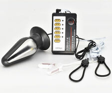 Electro Shock E-Stim Pulse Torpedo X-Plug Nipple Clamp Clip Therapy Sets
