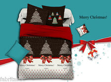 Merry Christmas Super King Size Bed Duvet/Doona/Quilt Cover Set New