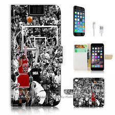 iPhone 6 (4.7') Flip Wallet Case Cover! P1071 Basketball