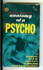 ANATOMY OF A PSYCHO, rare US Gold Star true crime pulp vintage pb