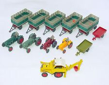 12x Wiking HO 1:87 DEUTZ + LANZ BULLDOG + PORSCHE + TRAILER Farm Site Lot RARE!
