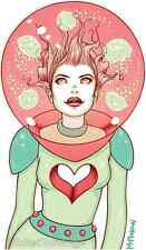 Pink Sea Love Girl Sticker Decal Tara Mcpherson TM37