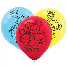 TSUM TSUM LATEX BALLOONS (6) ~ Birthday Party Supplies Latex Helium Disney Round