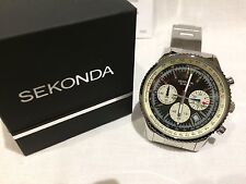 Sekonda Multi Dial  Gold trim, Chronograph Gents Watch RRP £99.99