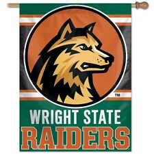 """WRIGHT STATE RAIDERS 27""""X37"""" BANNER FLAG BRAND NEW FREE SHIPPING WINCRAFT"""