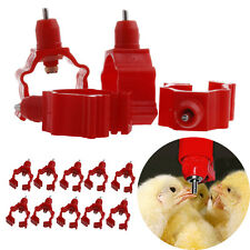 New 10Pcs/Set Automatic In Poultry Chicken Duck Water Nipple Drinker Feeder