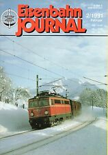 Eisenbahn Journal Heft 2/1991 Baureihe 119 Triebwagen Michelin Rollprüfstand  B4