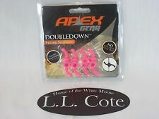 NEW PINK Apex Gear Doubledown Archery Crossbow String Silencers 4 pc Pack AG460P