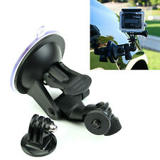 Car Suction Cup Mount Holder With Tripod Adapter for GoPro Hero 2 3 3+ 4 Camera