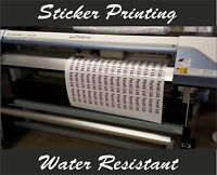 Custom digitally  Printed full colour Cut Vinyl Stickers Decals Logos
