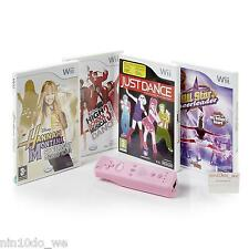 Wii DANCING GAMES BUNDLE+PINK REMOTE FOR GIRLS=JUST DANCE/DISNEY HSM/CHEERLEADER