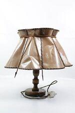 hermosa antiguo DDR Lámpara de mesa Aspecto Cuero Años 70 Culto Retro
