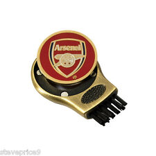 ARSENAL FC GRUVE CLEANER AND GOLF BALL MARKER. GROOVE CLEANING BRUSH
