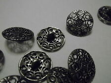 5x Hollow Carved 18mm Metal Clothes Craft Sew Shank Buttons - Buy 3 Get 1 FREE