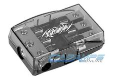 XSCORPION AGU FUSED PLATINUM DISTRIBUTION BLOCK 2/4G IN THREE 8/10 GAUGE AWG OUT