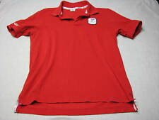 M Team GB Red Collar Team Shirt Great Britain Olympics Rings White MEDIUM Adidas