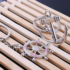 Classic navy wind Rudder Anchor couple key chain Creative Valentine's Day Lover