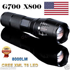 8000LM Zoomable CREE XM-L T6 LED 18650 Flashlight 5-Mode Focus Torch Lamp Light