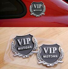 2PCS 3D VIP Motors Auto Car Side Metal Badge Emblem Decal Sticker Logo
