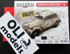 German AFV Winter Camouflage Effects 2-in-1 Paint Set 4 x 17ml - HATAKA AS38