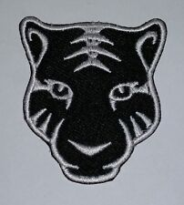 Tiger Head Black & White iron on Embroidered Patch / Logo