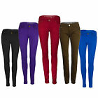 Ladies/Womens Coloured Skinny Fit Denim Stretch Jeans Jegging UK Size 6-16