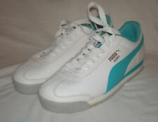 Womens Puma Roma White & Teal Tennis Sneaker Shoes Sz 9