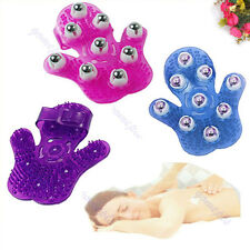 Body Care Hand-hold Roller Rolling Joint Glove Massager Color Random
