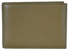NEW Gucci Men's 292534 Olive Green Textured Leather W/Coin Large Bifold Wallet