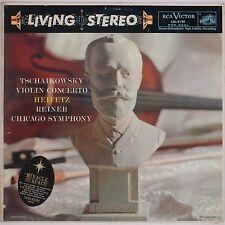 TCHAIKOVSKY: Violin Concerto, Heifetz RCA LIVING STEREO LSC-2129 SD 14s/21s LP