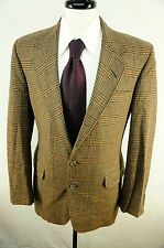 NWOT H Freeman & Son Philadelphia Brown Glenplaid Wool Tweed Sport Coat 40R USA