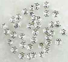 1000 Pcs 6mm Silver Plated Flower End Beads Caps