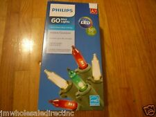 New Philips 60 LED Mini Lights Warm White Twinkling Green Wire indoor Outdoor