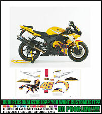 kit adesivi stickers compatibili yzf r6 r46 rossi limited edition 2005