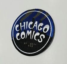 "Chicago Comics Exclusive Blue ""Smoke Stacks"" Iron On Embroidered Applique Patch!"