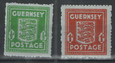 Guernsey - SG 4 & 5 Blue Paper Wartime Occupation Issues. Unmounted mint pair.