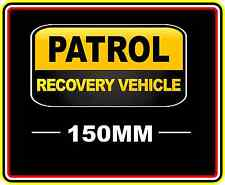 PATROL RECOVERY VEHICLE STICKER DECAL 4WD OFF ROAD TRUCK FUNNY BUMPER BNIP