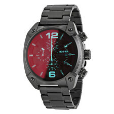 Diesel Overflow Chronograph Black Dial Black Ion-plated Mens Watch DZ4316