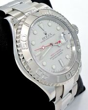 ROLEX Yacht Master 16622 40mm Oyster Perpetual Platinum Bezel Watch PAPERS *MINT