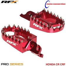 RFX PRO SERIES FOOTRESTS FOOT PEGS RED FOR HONDA CR125 CR250 2005