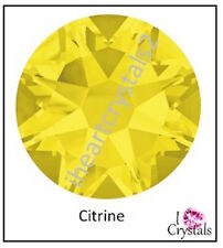CITRINE Yellow (248) Swarovski 4mm 16ss Crystal Flatback Rhinestones 2058 144 pc