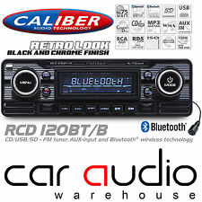 Classic Retro Bluetooth Cd Mp3 Usb Aux estéreo del coche Radio Reproductor Negro rcd120bt/b