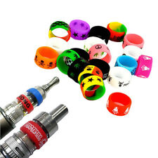 10Pcs Silicone Vapor Rings Mechanical Band Anti Slip Random Color RBA RDA Tank