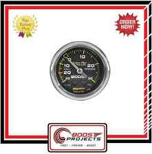 AutoMeter 30 IN HG/30 PSI Carbon Fiber Ultra-Lite Analog Boost Gauge * 4703 *