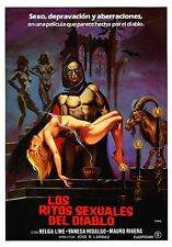 (PRESS BOOK BROCHURE ORIGINAL LOS RITOS SEXUALES DEL DIABLO) TERROR DE CULTO
