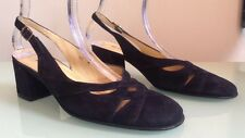 Bettye Muller Suede Navy Round Toe Mules, Size 10